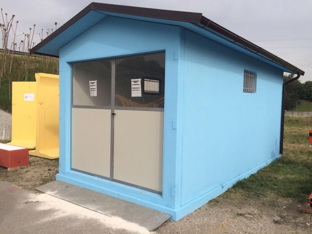 Box prefabbricati con platea in cemento