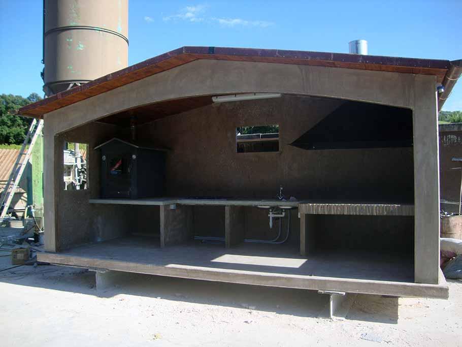 gazebo in cemento armato prefabbricato